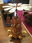VINTAGE WEIHNACHTS PYRAMIDE 3 TIER NATIVITY CAROUSEL WINDMILL IN BOX GERMANY