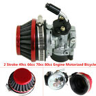 Carburetor Air Filter 17-19mm For 49cc 66cc 70cc 80cc Motorized Bicycle Engine