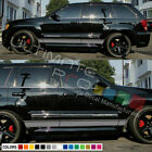 Sticker Decal Stripe for Jeep Grand Cherokee xenon carbon flare fender SRT8 yj