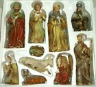 Gorgeous Christian Nativity Set Kirklands Potters Garden II 10 Pc and Wood Base