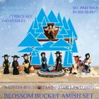 BLOSSOM BUCKET AMISH NATIVITY 12 PIECE SET AND 2 INCHES HEIGHT NO STABLE