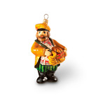 Merchant with cracknels mouth blown glass figurine Christmas tree ornament