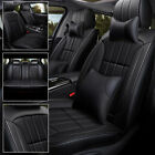 Universal 5-seats Car Seat Covers Pu Leather Front Rear Cushion Accessories Set