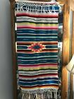 Vintage Southwest Native Mexico Thin Wool Woven Wall Hanging Art Table Runner