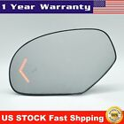 Mirror Glass Signal Blind Spot Detection Driver Side Left for Cadillac Chevy GMC