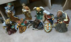 Beautiful Large 10 Piece Painted Ceramic Nativity Set Kirklands