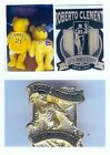 ROBERTO CLEMENTE 25 TH ANNIVERSARY BEANIE BABY, PIN & MAGNET FROM PUERTO RICO
