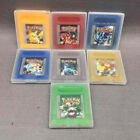 7 PCS Pokemon Crystal Gold Silver Yellow Red Blue Green Gameboy Color GBC GBA SP