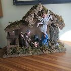 Vintage Wood Manger Nativity Creche 8Piece Christmas Made in Italy