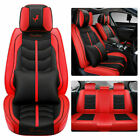 Luxury Pu Leather Car Seat Cover Protector Universal 5-seat Full Set For Suv Car