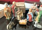 Vintage Homco Home Interior Christmas Nativity Set 5216 9 Pieces Original