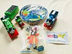 Lot of 5 Thomas & Friends Percy Trains W/ Angry Birds Plates & Hook Stickers