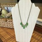 Green authentic sea glass necklace