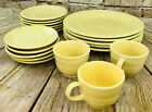 vtg Fiesta ware 19 pieces sunflower yellow dinner plates cups Homer Laughin
