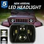 DOT 5x7 7x6 LED Headlight Hi Lo Beam Headlamp For Jeep Cherokee XJ Wrangler YJ