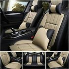 14 Luxury Car Seat Cover 5-seats Truck Suv Protector Interior Leather Cushions