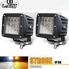4x 3inch 240W CREE LED Work Light Cube Pods Driving Fog SPOT Light For Jeep 3X3