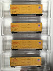 N Scale LBF Union Pacific 50 high cube box car set of FOUR 4 w MTL couplers