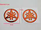 Pair 4cm Tuning Fork ank Fairing Emblems Decal Sticker For Yamaha Racing 3D Red