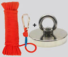 Upto 2000lb Fishing Magnet Kit Strong Neodymium Pull Force With Rope Carabiner