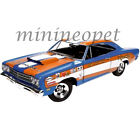 AUTOWORLD AW220 DON GROTHEER 1969 PLYMOUTH ROADRUNNER HARD TOP 1 18 DIECAST BLUE