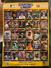 MLB Starting lineup Special 1992 Collector Sheet