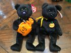 Set of 2 Mint Ty Beanie Halloween Bears (Haunt & Trickster)