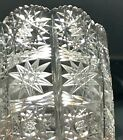 Vintage 5 Queen Lace Bohemian Czech Hand Cut Glass Crystal Vase Bohemia