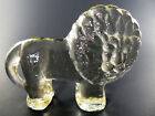VINTAGE KOSTA BODA PALE YELLOW ART GLASS LION FIGURINE PAPERWEIGHT E7