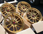 18x95 Aodhan Rims AH07 5x100 +30 Gold Machined Face Wheels Used Set