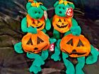 Ty Holiday Beanie Babies (Lot 4) Halloween Toy Decoration Tricky, Pumkin (L38)