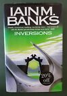 SIGNED Iain M Banks INVERSIONS First Edition Sci Fi Hardback w Dust Jacket