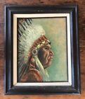 Painting Native American Indian Portrait Chief Yolachi Washington State By Rubey