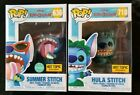 FUNKO POP DISNEY HULA STITCH & SUMMER STITCH HOT TOPIC EXCLUSIVES LOT OF 2