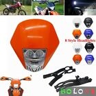 Universal Motorcycle Dual LED Headlight Fairing For KTM MX EXC EXCF XCF XCW SX
