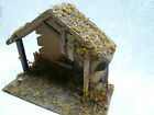 Vtg Nativity Stable Barn Scene Lighted Christmas Manger Creche Made Italy 14x10