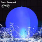 LOT OF 2 14 SOLAR LED POOL BALLS LIGHTS COLORS INFLATABLE FLOATING WATERPROOF
