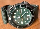 Seiko SRPD77 Day-Date Automatic Men's Diver-style Watch Green Dial/Gunmetal Case