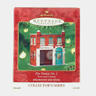 Hallmark Ornament Fire Station No.1 3rd In Series Pressed Tin 2001 Town Country