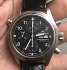 Vintage IWC Chronograph Rare 3713 Collector Watch Doppelchronograph Full Set NR