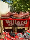 Vintage Men's Brown Leather Derby Platform Bespoke Deadstock NOS Shoes 8/8 1/2