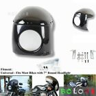 7 Inch Round Retro Motorcycle Headlight Fairing Front Windshield For Harley New
