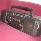 NICE SHARP WQ-T354 AM/FM DUAL CASSETTE PLAYER RECORDER BOOMBOX FULLY FUNCTIONAL