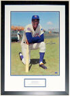 ERNIE BANKS AUTOGRAPHED CHICAGO CUBS 16X20 PHOTO PSA DNA COA CUSTOM FRAMED PLATE