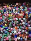 1 4 LB mixed crackled glass BEADS Jewelry Making Supply lot