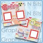 CORONA QUARANTINED Printed Premade Scrapbook Pages