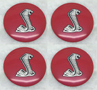 Brand New 4x 56mm 2.2 Cobra Snack Wheel Cap Sticker Emblem Center Hub For Cars