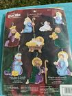 Plaid Bucilla Felt Applique Christmas Nativity 8pc Ornament Kit 84817 FREE SHIP