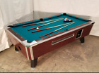 7 VALLEY COMMERCIAL COIN OP POOL TABLE MODEL ZD 8 NEW GREEN CLOTH