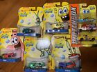 2013 Hot Wheels Spongebob SET OF 6 CHARACTER CARS 1 64 Diecast + Boat etc